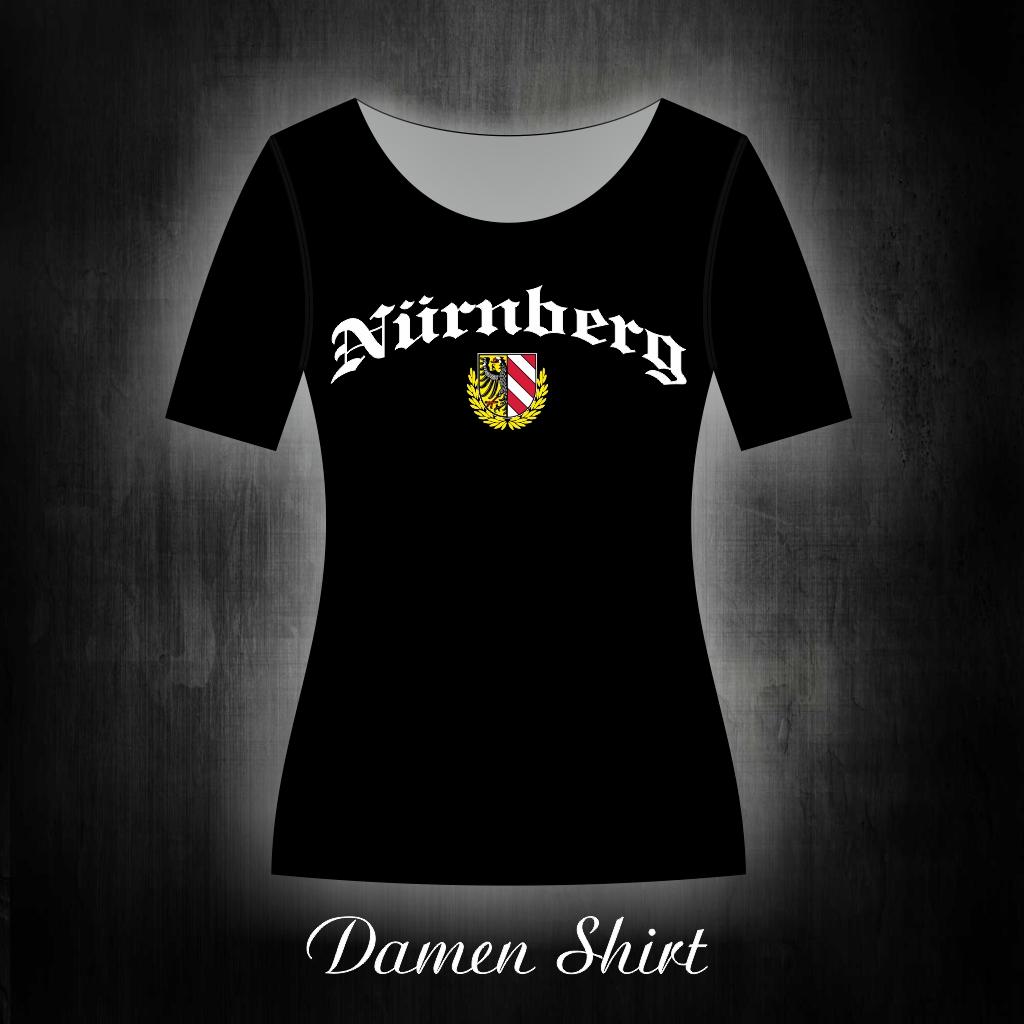 Damen T-Shirt einseitig bedruckt  Adler  schwarz