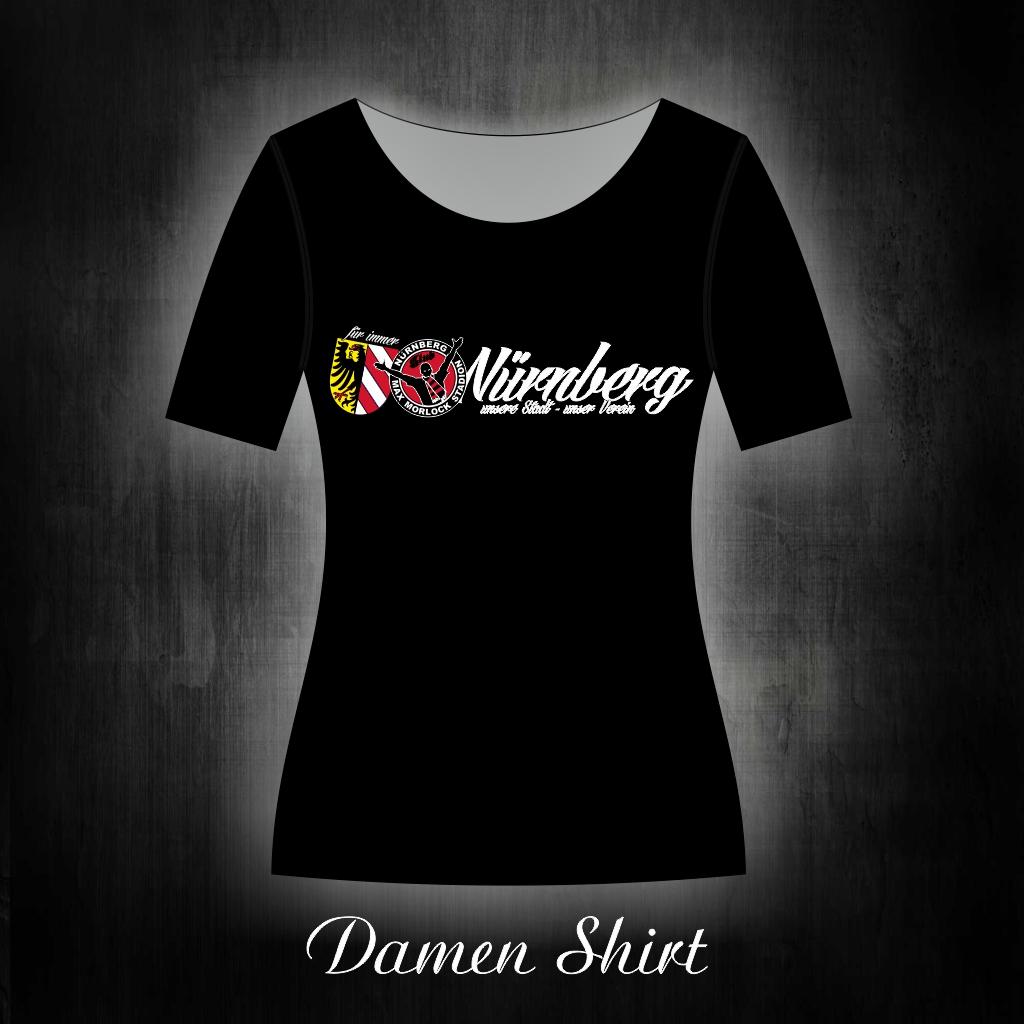Damen T-Shirt einseitig bedruckt  unsere Stadt, unser Verein
