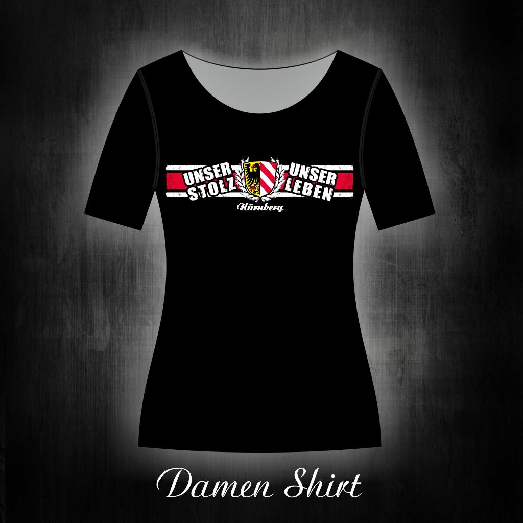 Damen T-Shirt einseitig bedruckt  unser Stolz, unser Leben