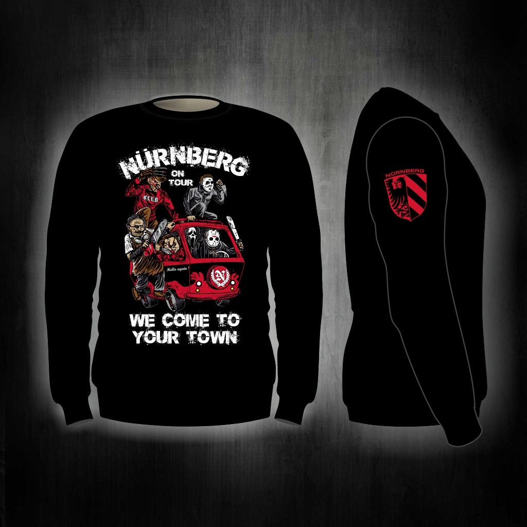 Sweat Shirt  Front + Ärmeldruck  We come to your town