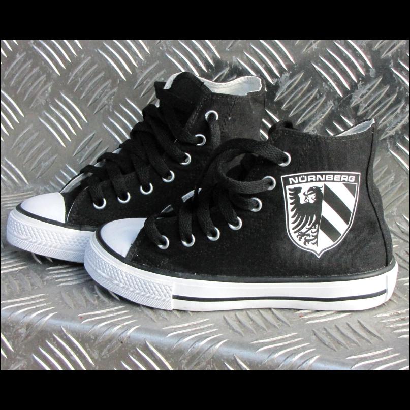 Kinder Schuhe Sneaker Stadtwappen schwarz-weiß