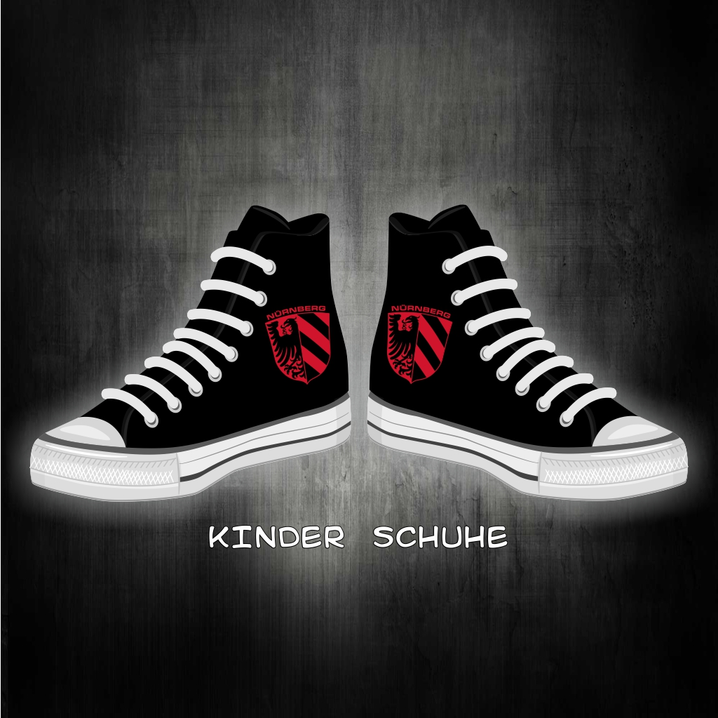 Kinder Schuhe Sneaker Stadtwappen rot