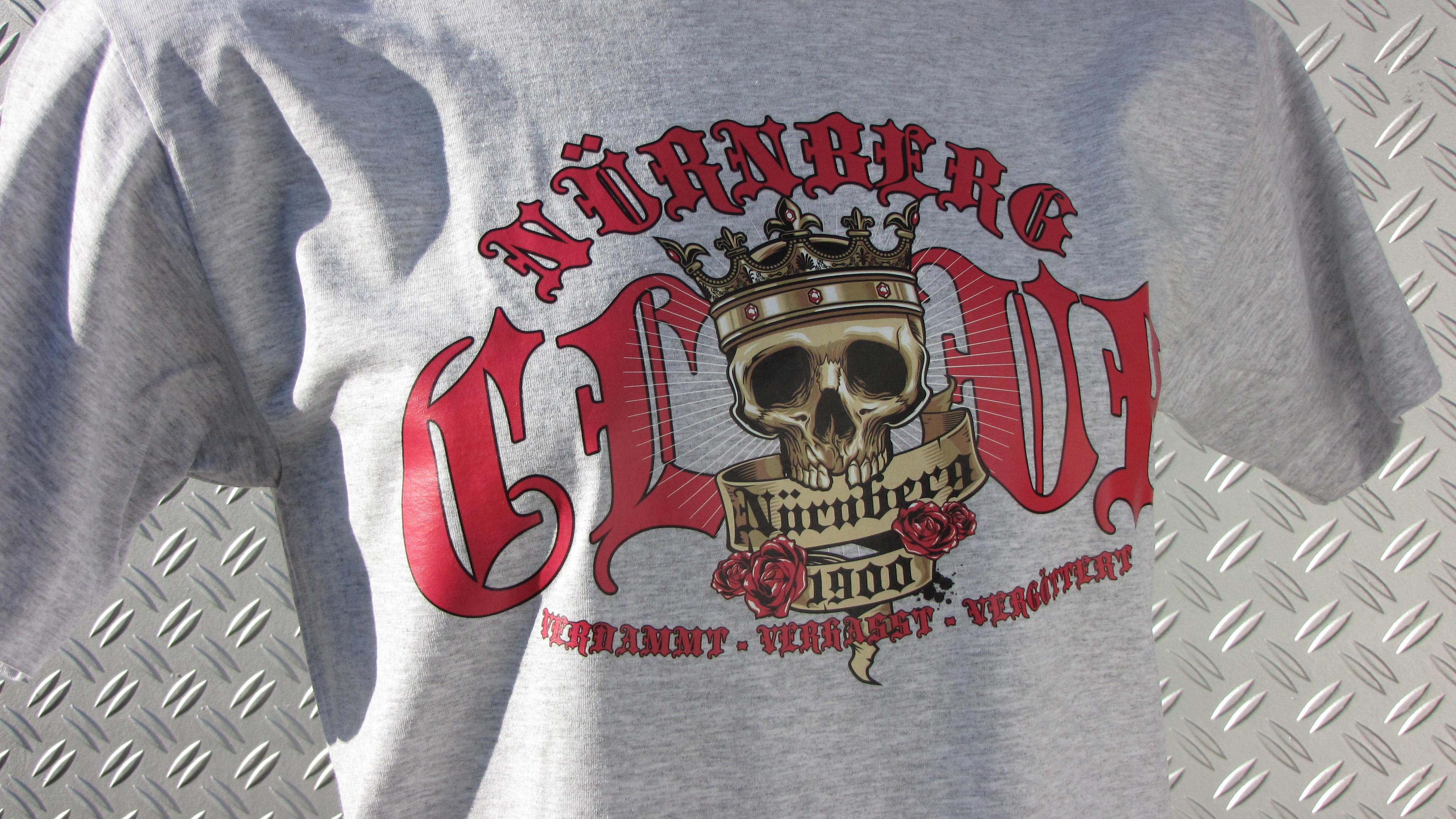 T-Shirt einseitig bedruckt  - Verdammt verhasst vergöttert (Kin