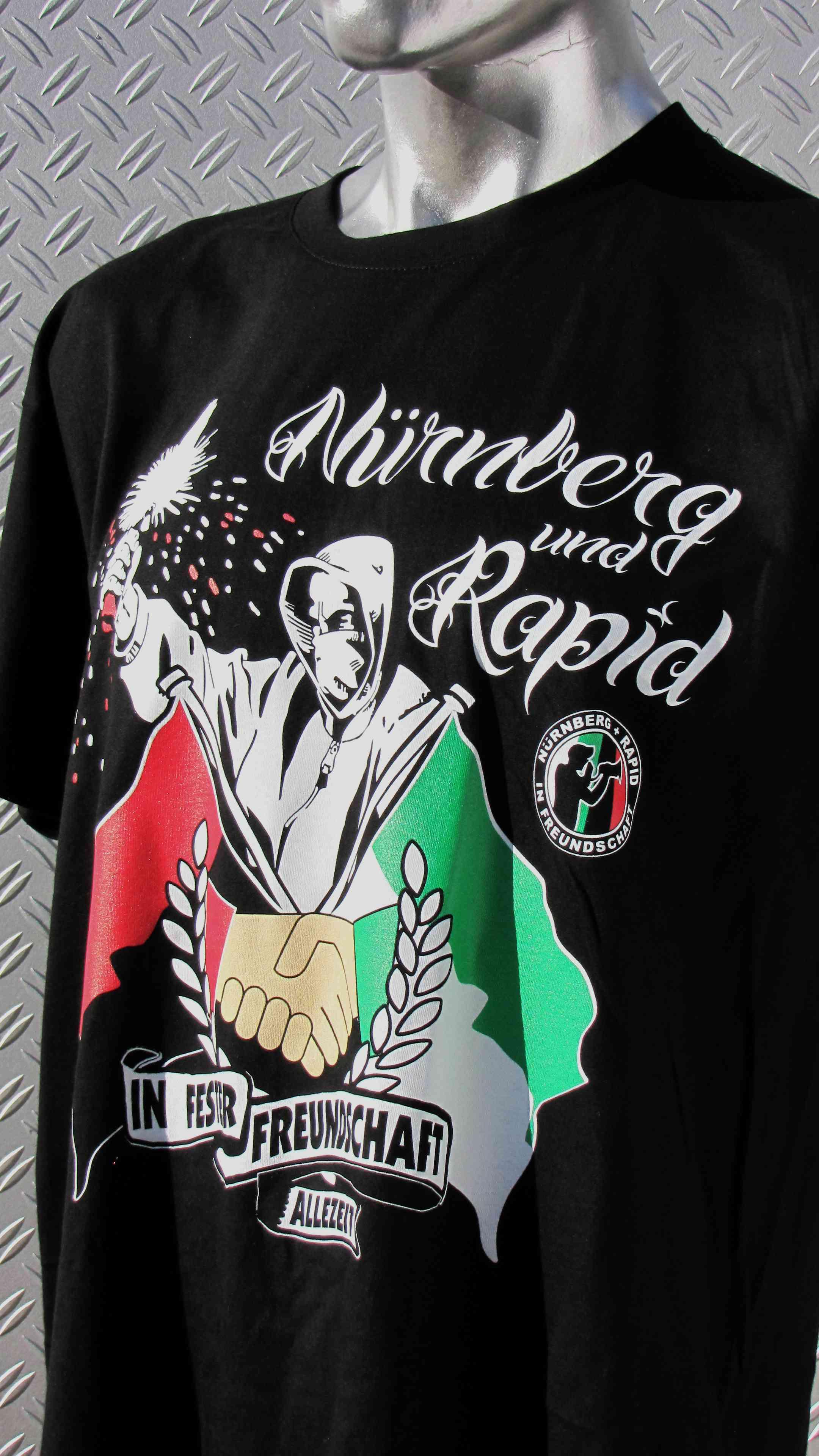 Shirt - Nürnberg & Rapid in fester Freundschaft