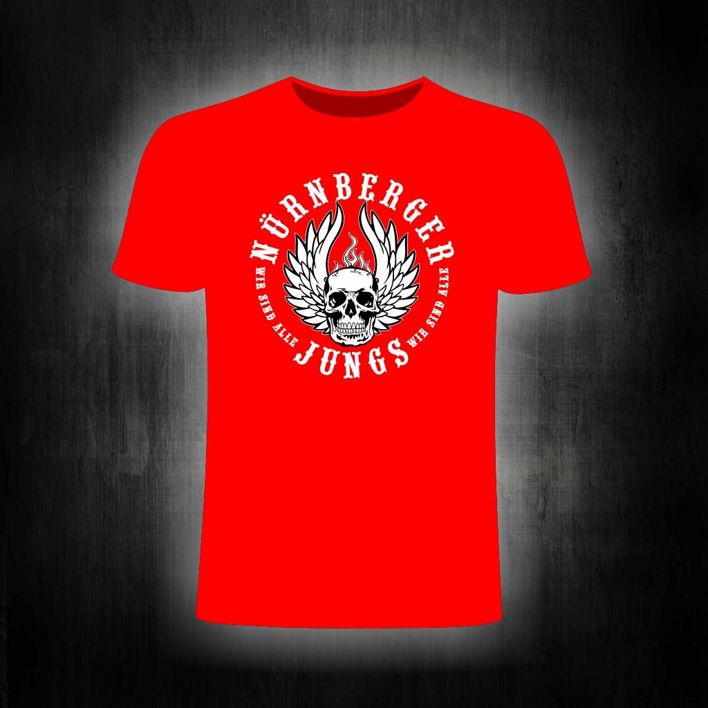 T-Shirt einseitig bedruckt  Skull rot