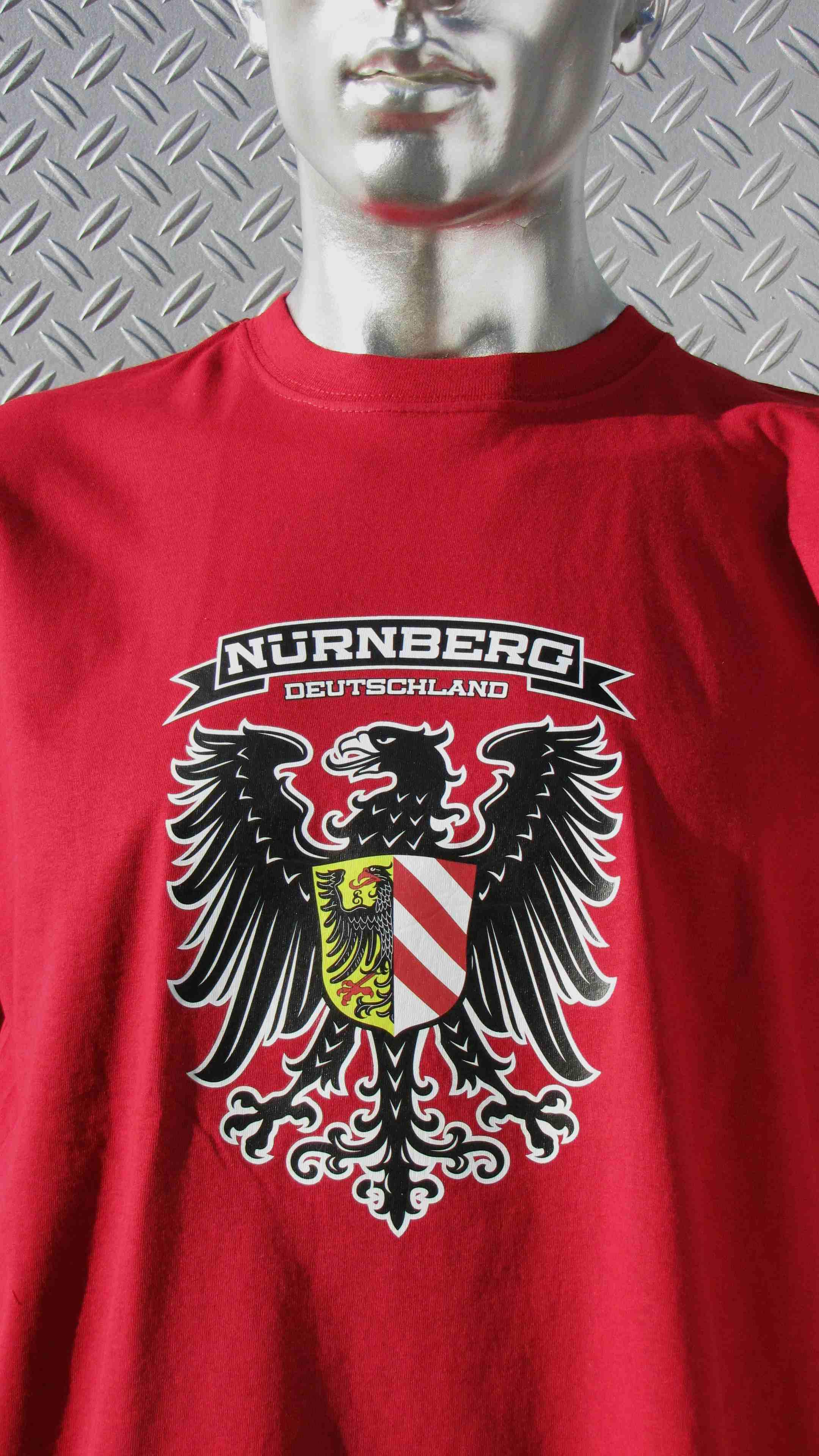 T-Shirt einseitig bedruckt  Adler rot